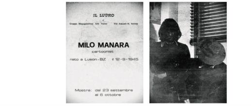 La prima mostra di Milo Manara: Cartoonist